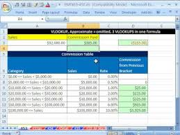 Sales Commissions Template Excel Magic Trick 453 Vlookup For Commission Brackets Calculation