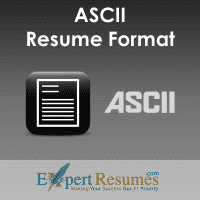 Ascii Resume Samples 24 Hour Resume Service Expert Resumes