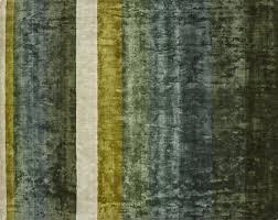 tidal hand loomed green striped rug