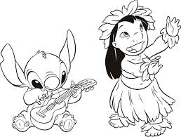 Lilo And Stitch Coloring Pages Disney Coloringstar