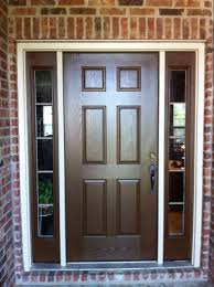 Doors With Sidelights Home Exterior Painting Brown Front Door - Hardwood exterior doors and frames