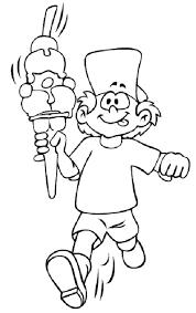 Disegno Di Bambino Con Gelato Da Stampare Gratis E Da Colorare
