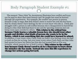 critical lens essay body paragraphs