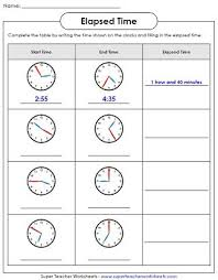 T Chart For Teaching Elapsed Time Elapsed Time Worksheets 3rd Grade Worksheet Fun And Printable
