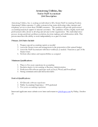 Accounting Job Description Awesome Collection Of Application Letter For Accounting Staff 22