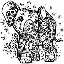 Vor allem kinder lieben malvorlagen. Pin Von Noodles Auf Cricut Designs Fur Elefantentattoos Tiere Zum Ausmalen Mandala Elefant