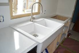Ordering  Installing Quartz Countertops From Menards - Bathroom sink installation