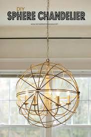 metal sphere small chandelier orbs light dining room