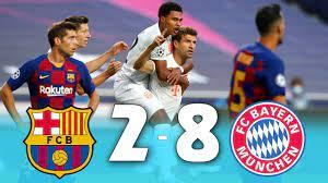 ملخص مباراة برشلونة و بايرن ميونخ 2-8   فضيحة القرن   دوري ابطال اوروبا -  YouTube