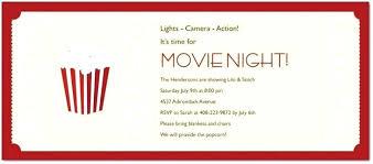 Movie Night Invitation Template Free Movie Night Invitations Free Printable Movie Birthday Party