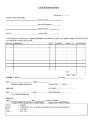 local purchasing order 37 free purchase order templates in word excel