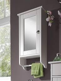 Spiegelschrank 39x74x16cm Mit Handtuchhalter Kiefer Massiv