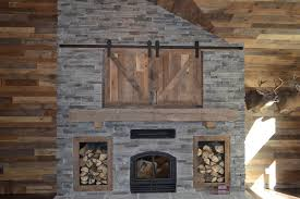 reclaimed barnwood mantel