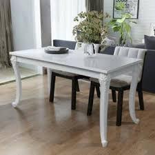 Table blanche salle a manger - Achat / Vente pas cher