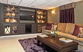... Basement Living Room Ideas Trend Basement Beautiful Ideas 5 Maroon Silk  Creative Light Brown Styles Interior ...