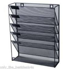 hanging office organizer. Image Is Loading Mesh-wall-literature-holder-magazine-hanging-file-Black- Hanging Office Organizer