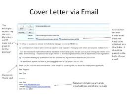 Sending A Cover Letter And Resume Via Email Zromtk Stunning How To Send Resume Via Email