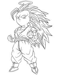 Small Picture Super Saiyan Gotenks Coloring Pages Coloring Coloring Pages