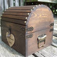 best rustic wedding card box products on wanelo Wedding Card Holder Chest wedding card box stained rustic wood fairytale treasure chest with card slot treasure chest wedding card holder