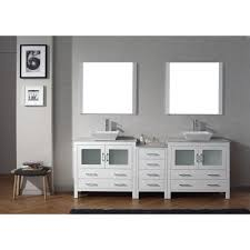 90 Bathroom Vanity Virtu Usa Dior 78 In W X 183 In D Vanity In White With Marble