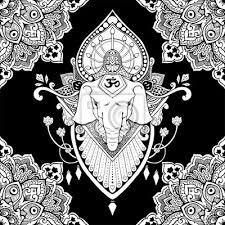 Fototapeta Ganesha Bůh úspěchu Mandala Orientální Kresba Tetování Ilustrace