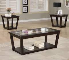 3pc cappuccino coffee table set