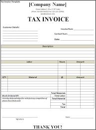 Free Tax Invoice Template tax invoices template invoice with gst template free invoice 5