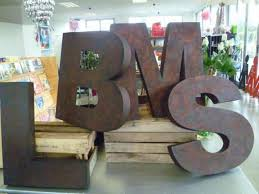large metal wall decor outdoor letters