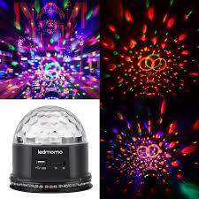 Mini Disco Ball Decorations UK Plug Crystal Magic Disco Ball Led Night Lights Actived RGB Mini 63