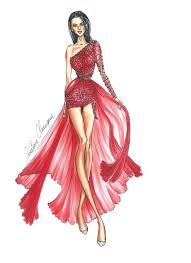 Youtube Fashion Design Sketches Fashion Illustration How To Draw An Embroidered Dress