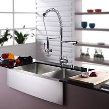 Stainless Steel Faucets Kitchen Stainless Steel Kitchen Sink Combination Kraususacom