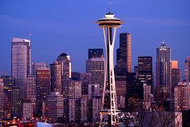 Seattle Cityscape Mark B Bauschke Photography Night Lights Seattle