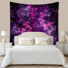 Purple Wall Decor For Bedrooms Tapestries Purple Wall Tapestries Galaxy Wall Art Galaxy Wall