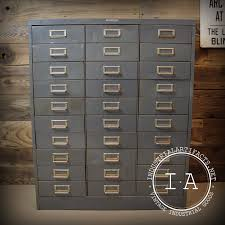 Antique Drawer Cabinet Vintage Industrial Steelmaster 30 Drawer Steel File Organizer