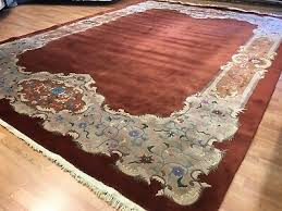 natural nichols 1920s antique chinese rug art deco carpet 9 10 x 13 8 ft