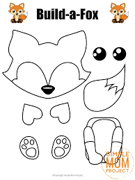 Coloring pages are fun for children of all ages and are a great educational tool that helps children develop fine motor skills, creativity and color recognition! Build A Fox Craft For Kids With Free Printable Fox Templates