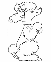 Small Picture How To Draw A Dog Step By Step Poodle Coloring Pages Printable