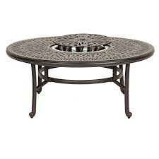 round outdoor coffee table side small patio metal