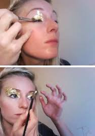how to wear gold leaf makeup nails body art faux jewelry babble