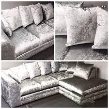 the wandsworth left right corner sofa seater silver crushed velvet diy tov celine ikea klippan cover