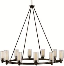 Circolo Brushed Nickel Eight Light Oval Chandelier Kichler 2347oz Circolo Chandelier 12 Light Olde Bronze