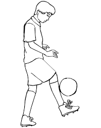 Small Picture This Boy Practising His Ball Handling for Next Soccer Game