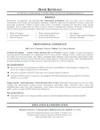Resume For Police Officer With No Experience From Police Ficer