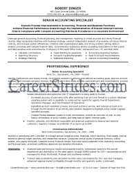 Senior Accountant Resume Nardellidesign Com