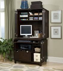 image of small secretary desk with hutch