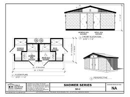 floorplans shower 2 large prefabricated public showers for public restrooms public on campground bath house floor plans