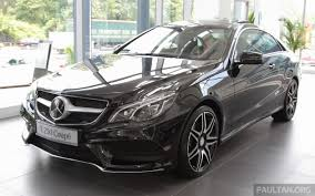 All the above prices are manufacturer's recommended retail prices. Mercedes E 250 Coupe Now In Malaysia Rm490 888