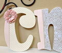 decorated wooden letters for nursery custom nursery letters baby girl nursery decor wooden letters personalized wall