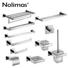 SUS <b>304</b> Stainless Steel <b>Bathroom Hardware Set</b> Chrome Polished ...