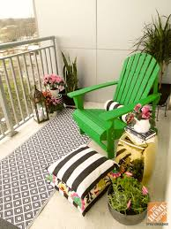 patio decor ideas black and white geometric and floral patterns combined with a patio furniture for small patios